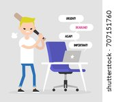 mad office worker conceptual... | Shutterstock .eps vector #707151760