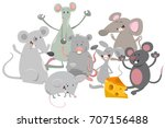 cartoon vector illustration of... | Shutterstock .eps vector #707156488