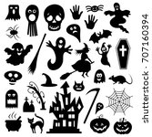 halloween vector icons | Shutterstock .eps vector #707160394