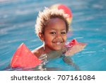 little african child with... | Shutterstock . vector #707161084