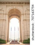 india gate at india august 2015 | Shutterstock . vector #707163754