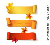 set of curved short colored... | Shutterstock .eps vector #707171554
