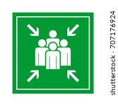 emergency evacuation assembly... | Shutterstock .eps vector #707176924