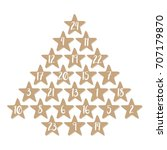 advent calendar with 24 stars | Shutterstock .eps vector #707179870