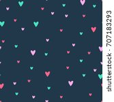 vector cute romantic cartoon...   Shutterstock .eps vector #707183293