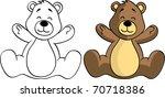 teddy bear | Shutterstock .eps vector #70718386
