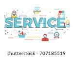 service word lettering... | Shutterstock .eps vector #707185519