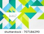 triangle pattern design... | Shutterstock . vector #707186290