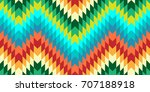 seamless vector chevron pattern ... | Shutterstock .eps vector #707188918