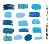blue vector strokes of marker... | Shutterstock .eps vector #707192314