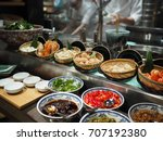 chef exclusive cooking asian... | Shutterstock . vector #707192380