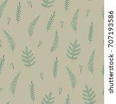 natural herbal pattern... | Shutterstock .eps vector #707193586