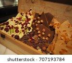 chocolate box desert sweet gift ...   Shutterstock . vector #707193784