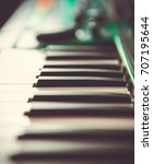 professional midi keyboard... | Shutterstock . vector #707195644