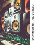 professional dj shop audio... | Shutterstock . vector #707195680