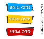 special offer sale banner for... | Shutterstock .eps vector #707197204