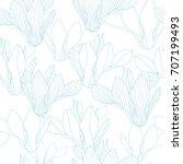 floral seamless pattern. vector ... | Shutterstock .eps vector #707199493