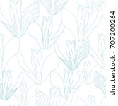seamless pattern with flowers.... | Shutterstock .eps vector #707200264