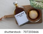 coffee cold brew in bottle | Shutterstock . vector #707203666