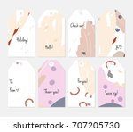 hand drawn creative tags....   Shutterstock .eps vector #707205730