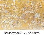 shabby yellow paint. texture of ... | Shutterstock . vector #707206096