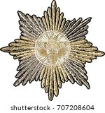 vector of royal patch.... | Shutterstock .eps vector #707208604