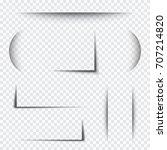 set transparent shadows | Shutterstock .eps vector #707214820