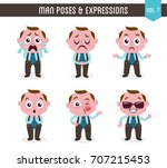 cartoon character of a man in... | Shutterstock .eps vector #707215453