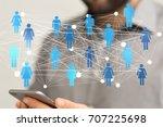 group network | Shutterstock . vector #707225698