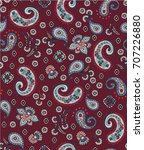 seamless paisley pattern in... | Shutterstock .eps vector #707226880