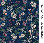 seamless floral pattern in... | Shutterstock .eps vector #707226898