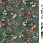 seamless floral pattern in... | Shutterstock .eps vector #707226919