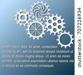 white gears infographics on...   Shutterstock .eps vector #707226934