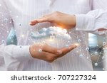 protection of cloud data to... | Shutterstock . vector #707227324