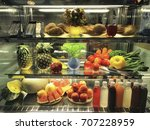 fruit and vegetable in freezer... | Shutterstock . vector #707228959