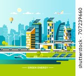 green energy and eco friendly... | Shutterstock .eps vector #707239660