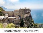 simonopetra monastery on the... | Shutterstock . vector #707241694