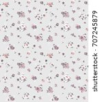 seamless floral pattern in... | Shutterstock .eps vector #707245879