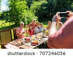 leisure  holidays and people... | Shutterstock . vector #707246056