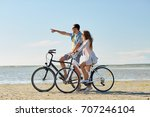 people  leisure and lifestyle... | Shutterstock . vector #707246104