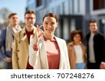 business  gesture and corporate ... | Shutterstock . vector #707248276