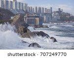 coast of vina del mar during a... | Shutterstock . vector #707249770