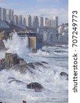 coast of vina del mar during a... | Shutterstock . vector #707249773