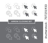 arrow clicking. pointer icon.... | Shutterstock .eps vector #707251933