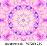 beautiful kaleidoscope retro... | Shutterstock . vector #707256250
