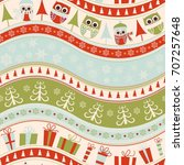 christmas seamless colorful... | Shutterstock .eps vector #707257648