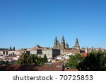 panoramic of santiago de... | Shutterstock . vector #70725853