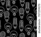 light bulb seamless pattern ... | Shutterstock .eps vector #707259070
