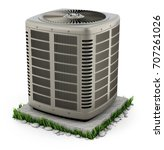 heating and air conditioner... | Shutterstock . vector #707261026