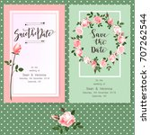 save the date card  wedding... | Shutterstock .eps vector #707262544